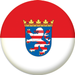 Hesse State Flag 58mm Button Badge